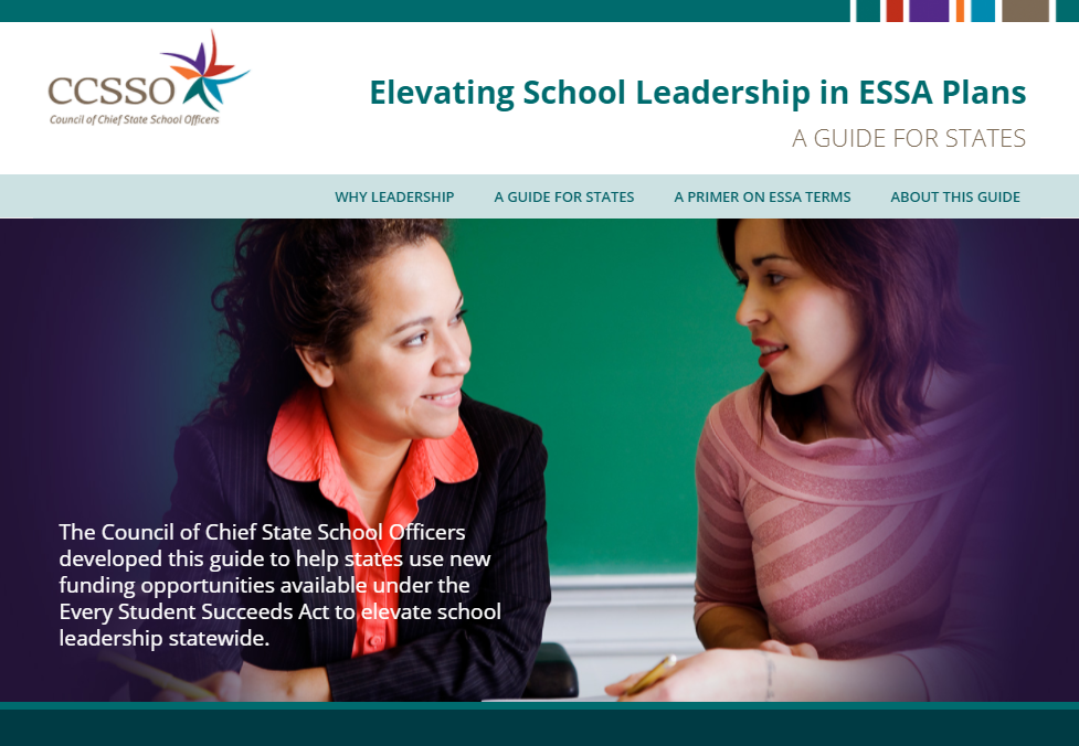 Front page of ESSA School Leadership Guide