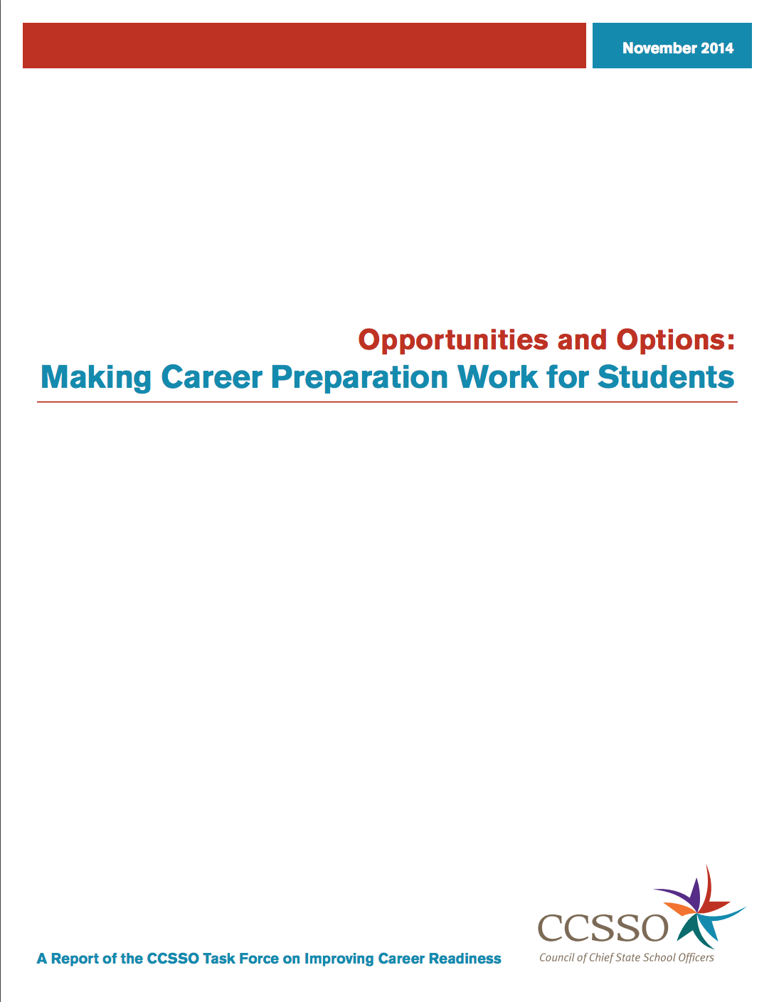 Opportunities and Options title page