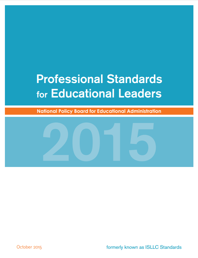 Professional Standards for Education Leaders Report page