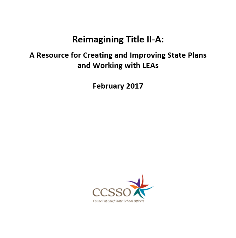 Reimagining Title IIA Title Page