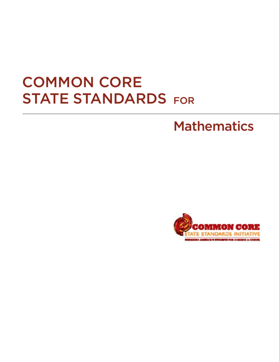Common Core State Standards for Mathematics - Title page