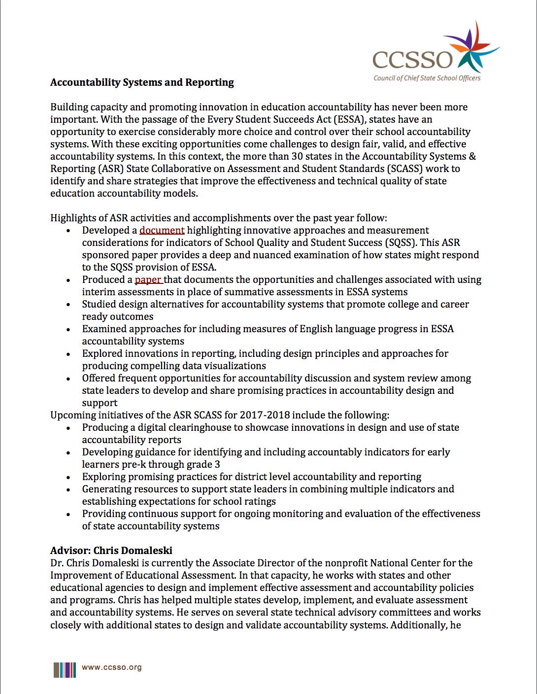 Accountability | CCSSO