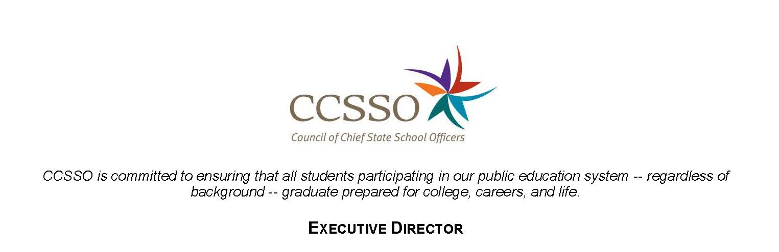 CCSSO Executive Director Job Description | CCSSO